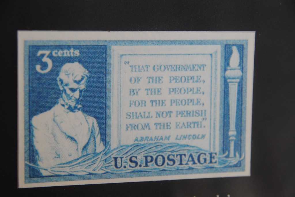 Abraham Lincoln 3 Cent Postage Stamp