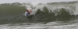 Riding the Body Board in a Wave