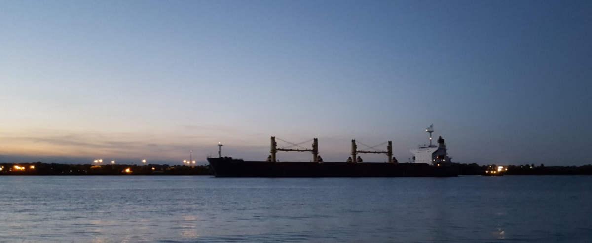 Ship Galini Passing at Night